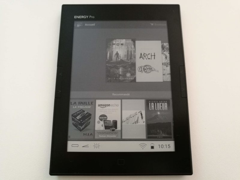 Kindle sur liseuse Energy Sistem