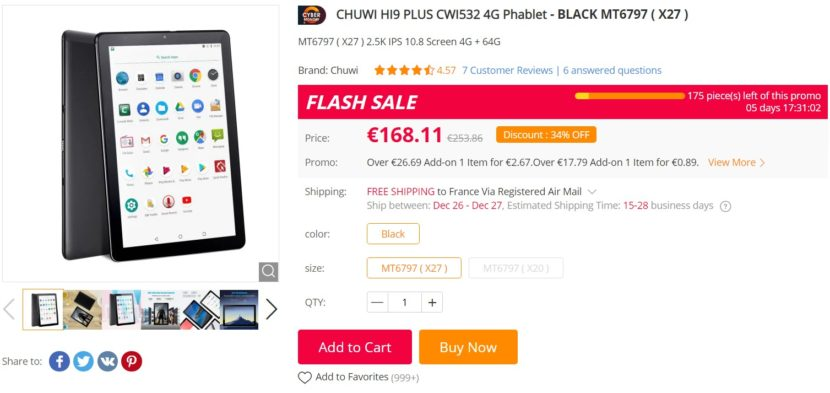 Chuwi Hi9 Plus tablette Gearbest