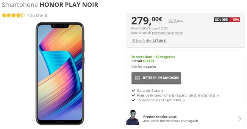 Soldes Honor Play Darty