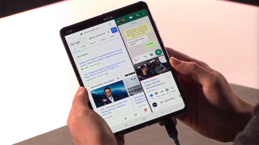 Interface Samsung Galaxy Fold