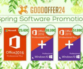 Goodoffer24 Spring Deal : Windows 10 Pro à 10,26€, Office 2016 Pro à 25,43€
