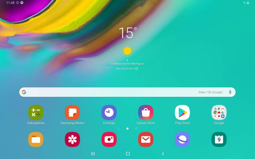 Interface OneUI Galaxy Tab S5e