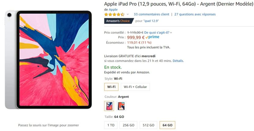 Promo iPad Pro Amazon