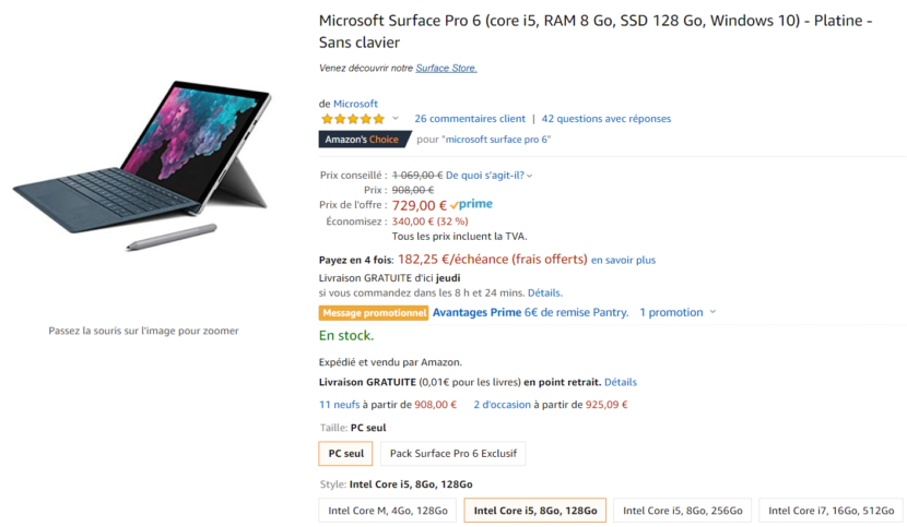 Prime Day Surface Pro 6
