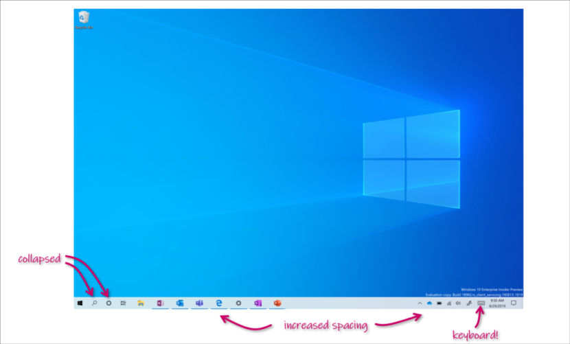 Interface hybride windows 10