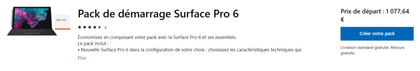 Pack Surface Pro 6