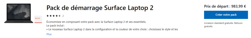 Promo pack Surface Laptop 2