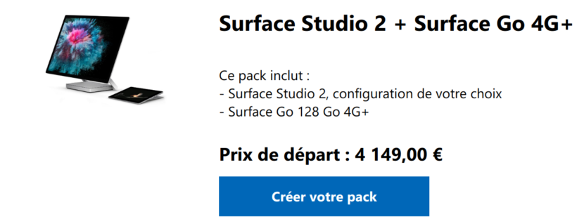 Pack promo Surface