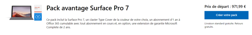 Promo Pack Surface Pro 7